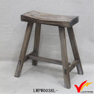 Rustic Old Shabby French Chic Wood Farmhouse Kitchen Stool pictures & photos