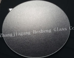 5mm Clear Round Nashiji Tempered Glass pictures & photos