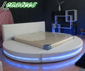 A542 Round Bed Furniture with LED Light pictures & photos