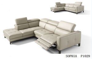 Modern Furniture Genuine Leather Sofa With Recliner