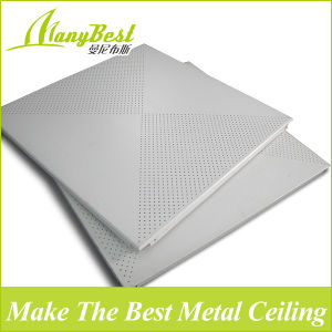 600*600mm White Color Office Aluminum Ceiling Panel pictures & photos