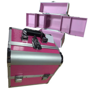Aluminium Makeup Case with Trayer for Lady pictures & photos