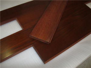 Resistance to Deformation Wear-Proof Natural Okan Wood Flooring pictures & photos