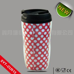 270ml/300ml/350ml Plastic coffee cup, plastic cup with lid, plastic cup printing machine pictures & photos
