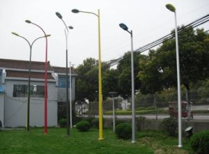 Galvanized and Colorful Powder Coated Street Light Steel Pole pictures & photos