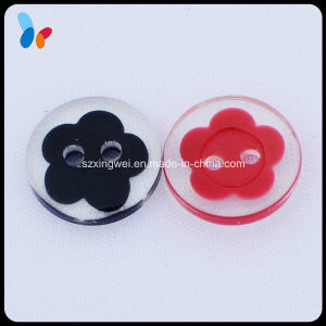 Clear Plastic Polyester Button for Dress pictures & photos