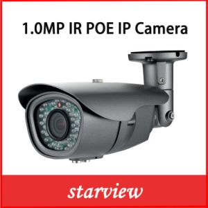 1.0MP HD IP Poe Waterproof IR Bullet Network CCTV Security Camera pictures & photos