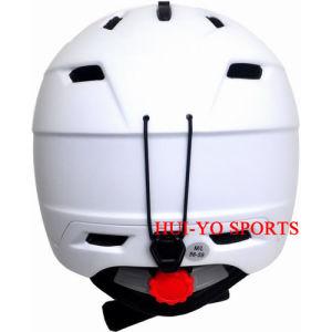 in-Mold Snow Helmet, Adult Skiing Helmet, White Ski Helmet, Racing Snowboard Helmet pictures & photos