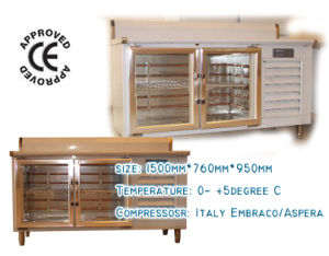 Refrigeration Counter with Glass Door pictures & photos