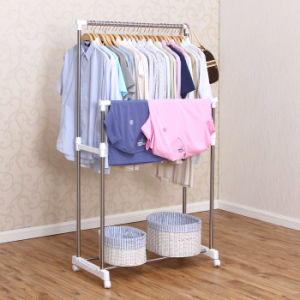 Atainless Steel Double Pole Clothes Hanger pictures & photos