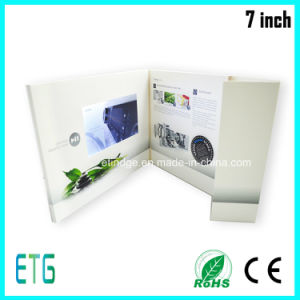 7inch LCD Screen Advertising Brochure Video Greeting Cards pictures & photos