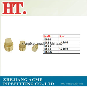 Male Thread Square Head Brass Pipe Plug Fitting pictures & photos