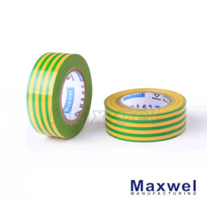 Yellow & Green PVC Electrical Insulation Tape pictures & photos