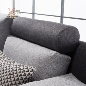 Simple Fabric Sofa Filled with Feather (1610) pictures & photos