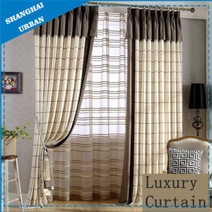 Home Hotel Stripe Linen Curtain pictures & photos
