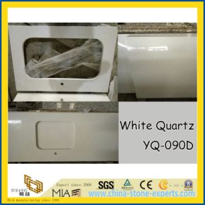 Artificial White Quartz Stone for Vanity Top, Kitchen Countertop pictures & photos