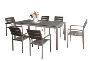 Garden Furniture Modern Plastic Wood Dining Set (ST-07002) pictures & photos