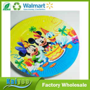 Wholesale Custom Lovely Cartoon Pattern Disposable Paper Plate pictures & photos