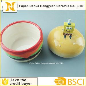 Hambergar Shape Ceramic Jar with Spongebob Lid pictures & photos