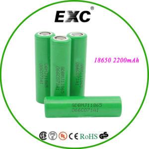 Flat Top Li Ion 18650 Battery 2200mAh pictures & photos