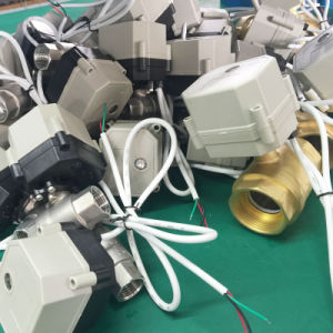 """Dn25 1"""" NSF61 2 Wire DC12V 24V with Manual Override Ss304 Motorized Electric Water Ball Valve pictures & photos"""