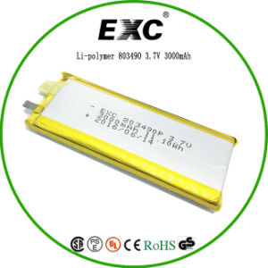 Exc803490 3000mAh Lithium Polymer Recharge Batteries pictures & photos