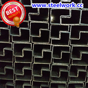 ERW Galvanized/ Annealing Welded P-Shaped Steel Tube (T-08)