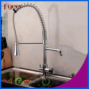 Fyeer Pull out Spray Kitchen Faucet with Water Flow Filter Tap pictures & photos