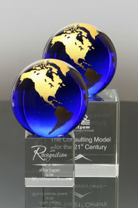 2017 New Duke Blue Crystal Award Gold World Globe for Popular Gifts (#3532A, #3442) pictures & photos