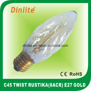 C45 - E27 (8anchors) Twist Rustika Golden Bulb pictures & photos