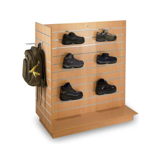 T Shape Slatwall Gondola/Display Rack for Store (MDR-OO1) pictures & photos