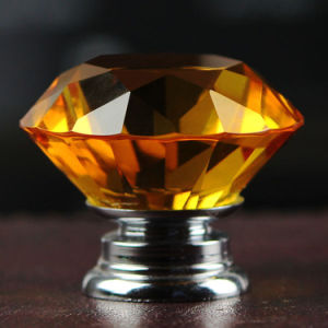 Amber Diamond Crystal Knobs in Silver for Housewarming pictures & photos