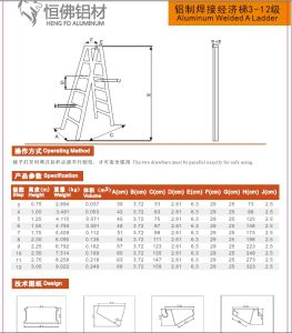 Aluminium Ladder Profile Aluminum Profile pictures & photos