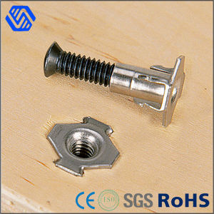 Stainless Steel 4 Prong Furniture Fasterner Polished Tee Nut pictures & photos