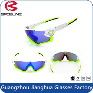 2015 Men′s Sport Full Shield Lens Wrap Around UV Protective Cycling Sport Glasses pictures & photos