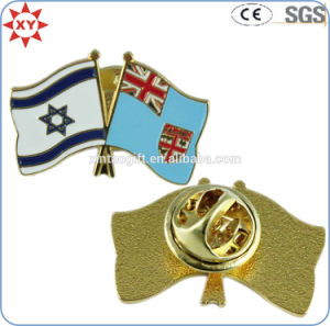 Personalized Enamel Quality National Flag Lapel Pins with Butterfly Clasp pictures & photos