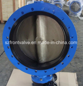 Ductile Iron Single Flanged Butterfly Valve pictures & photos