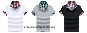 Fashionable Mens Print Collar Cotton Polo Shirt pictures & photos