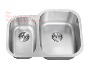 29-5/8 X 20-7/8 Inch Stainless Steel Under Mount Double Bowl Kitchen Sink with Cupc Certification pictures & photos
