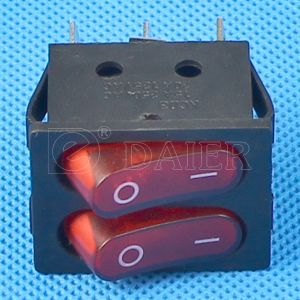 PA66 Illuminated Double Pole Rocker Switch with 2 LEDs pictures & photos