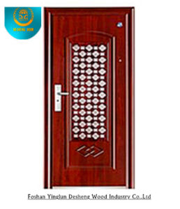 European Style Stainless Steel Door of Red Brown Colour (GS-8012) pictures & photos