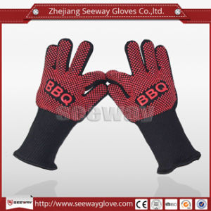 Seeway 662f Heat Resistance Cotton Glove with Anti Slip Silicone Coating for Kitchen Barbecue Grilling Cooking