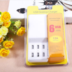 12A Desktop 6 Port Multi USB Charger with 1.5m Cable pictures & photos