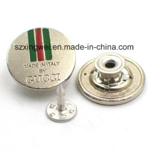 Silver Metal High End Metal Jeans Button pictures & photos