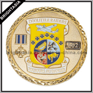 Custom Two Size Enamel Coin for Souvenir (BYH-10308) pictures & photos