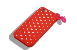 Lipstick Pendant Cartoon Silicone Phone Case for iPhone 6splus 7 7plus S6 S7 S7edge (XSF-022) pictures & photos