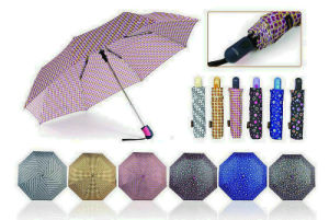 Pompon 3 Fold Manual Aluminium Light Umbrella (YS-3FM21083946R) pictures & photos