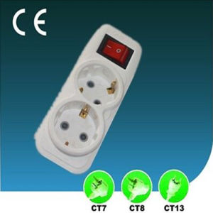 10/13A EU Extension Power Strip Two Ways with Switch