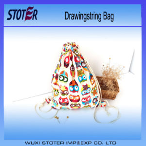 New Recycle Waterproof 100% Polyester Drawstring Bag