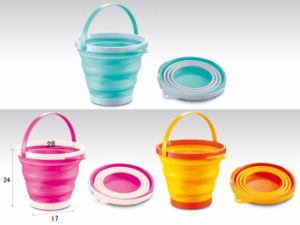 Colourful Bucket of 5L&7L Folding Bucket for Children pictures & photos